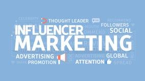 Influencer marketing concept royalty-vrije illustratie