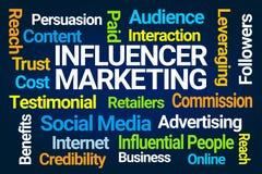 Influencer Marketing Word Cloud royalty free illustration
