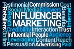 Influencer Marketing Word Cloud stock illustration