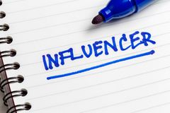 Influencer Note stock image