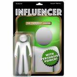 Influencer Person Influential Customer Action Figure 3d Illustra Fotos de archivo libres de regalías