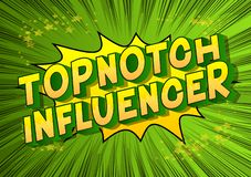 Influencer Topnotch - mots de style de bande dessinée illustration stock
