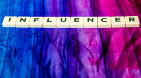 Influencer written Royalty Free Stock Image