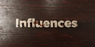 Influences - grungy wooden headline on Maple  - 3D rendered royalty free stock image Stock Photos