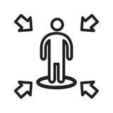 Influencing Skills. Leadership, influence, achieve icon vector image. Can also be used for soft skills. Suitable for mobile apps, web apps and print media Stock Image