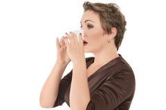 Influensa eller cold Fotografering för Bildbyråer