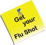 Influensa skjuten memo Royaltyfri Bild
