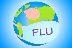influensaförhindrandeswine Arkivfoto
