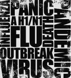 influensarubrikswine Arkivfoton