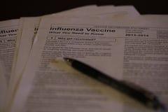 Influensavaccinering Royaltyfri Fotografi