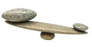 Influential thing: Pebble stability scales with stones. Influential thing: Pebble stability scales with large and small stones Stock Photography
