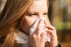 Influenza fotografie stock
