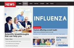 Influenza Cold Fever Flu Illness Concept. People Discuss Fight Influenza Cold Fever Flu Illness Royalty Free Stock Photography