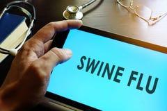 Influenza dei suini A H1N1 e H3N2 di influenza di maiali Fotografia Stock