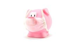 Influenza del maiale con la protezione della bocca Fotografie Stock