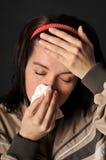 Influenza di freddo di allergie Immagini Stock