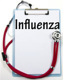 Influenza diagnosis sign Stock Photo