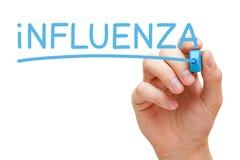 Influenza Handwritten With Blue Marker Stock Photo
