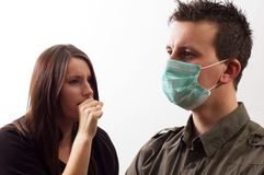 Influenza masks Royalty Free Stock Photos