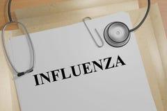 Influenza - medical concept Stock Photo