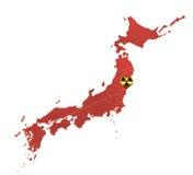 Influenza nucleare nel Giappone Immagine Stock