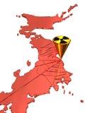 Influenza nucleare nel Giappone Immagini Stock