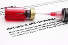 Influenza and pnemonia Royalty Free Stock Photography