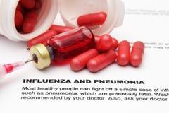 Influenza and pnemonia Stock Images