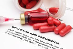 Influenza and pneumonia Royalty Free Stock Image