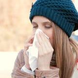 Influenza stagionale Fotografia Stock Libera da Diritti