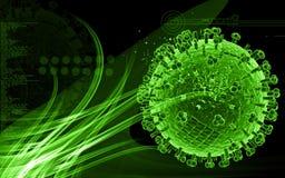 Influenza virus. Digital illustration of influenza virus in   colour background Royalty Free Stock Photo