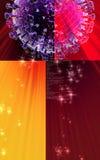 Influenza virus. Digital  illustration  of influenza virus in   colour background Royalty Free Stock Photography