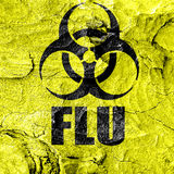 Influenza virus concept background Stock Images