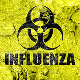 Influenza virus concept background Royalty Free Stock Photo