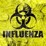 Influenza virus concept background Royalty Free Stock Photo