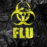 Influenza virus concept background Stock Photo