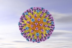 Influenza virus illustration Royalty Free Stock Photos