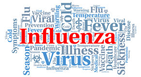 Influenza word cloud concept Stock Images
