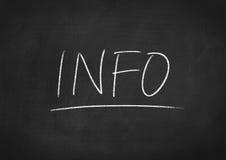 info royalty-vrije stock fotografie