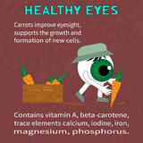 Info about the benefits of carrot for eyesight Stock Photography