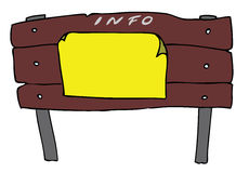 Info billboard. Hand drawn camp info billboard Royalty Free Stock Image