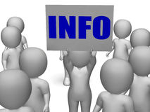 Info Board Character Shows Group Counselling Or Royalty Free Stock Images