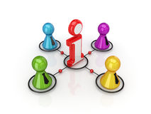 Info business concept. On white background.3d rendered Stock Photo