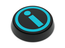 Info button black-blue Stock Photo