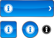 Info  button set. Royalty Free Stock Photography