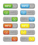 Info button sets Royalty Free Stock Photos