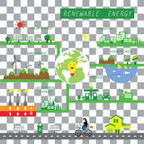Info chart renewable energy biogreen ecology Royalty Free Stock Photography
