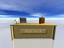 Info Desk. Bryce creation Royalty Free Stock Photo