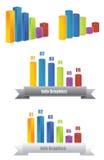 Info-diagram 3D stock illustrationer