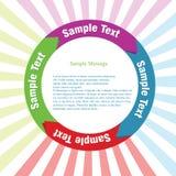 Info-diagram mall Royaltyfria Bilder